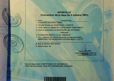 Tranlanguage Apostille Argentina I