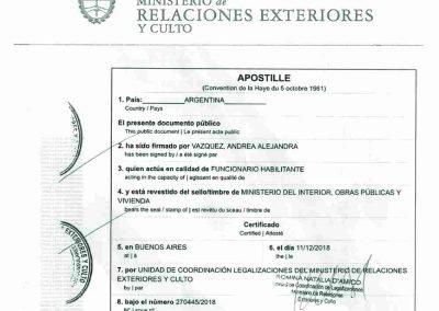 Tranlanguage Apostille Argentina II