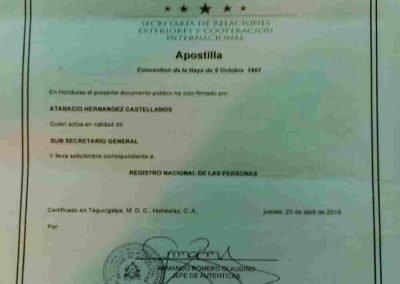 Tranlanguage Apostille Honduras