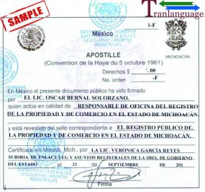 Tranlanguage Apostille Mexico