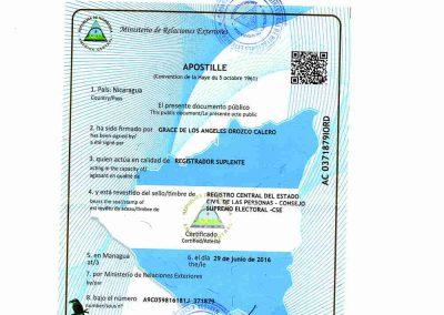 Tranlanguage Apostille Nicaragua