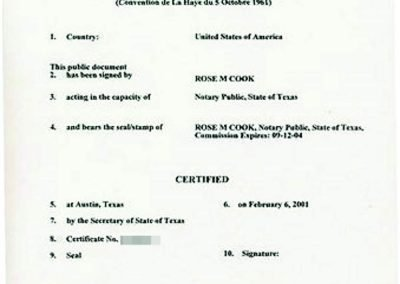Tranlanguage Apostille Texas