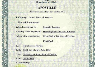 Tranlanguage Apostille US - FL I