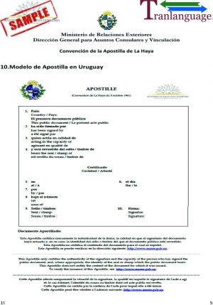 Tranlanguage Apostille Uruguay
