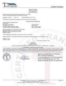 Tranlanguage - Certified Translation