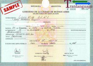 Tranlanguage Diploma Argetnina II