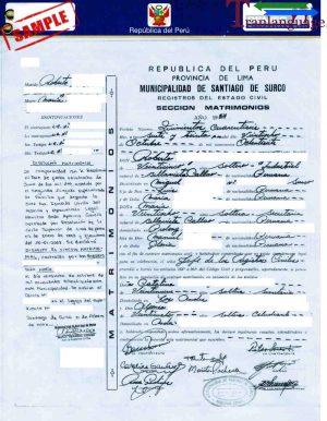 Tranlanguage Divorce Certificate Peru