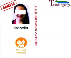 Tranlanguage Work IDs USA II